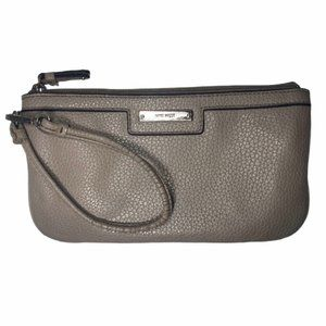 Nine West | Taupe | Faux Leather Wristlet/Clutch